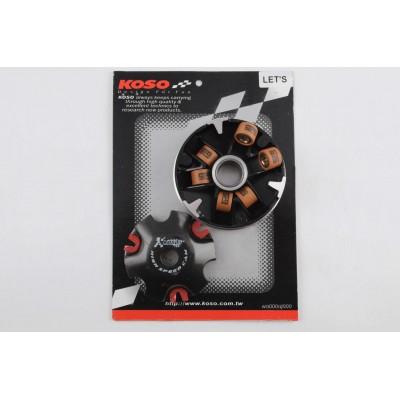Варіатор передній (тюнінг) Suzuki LETS (мідно-граф. втулка, ролики латунь) KOSO